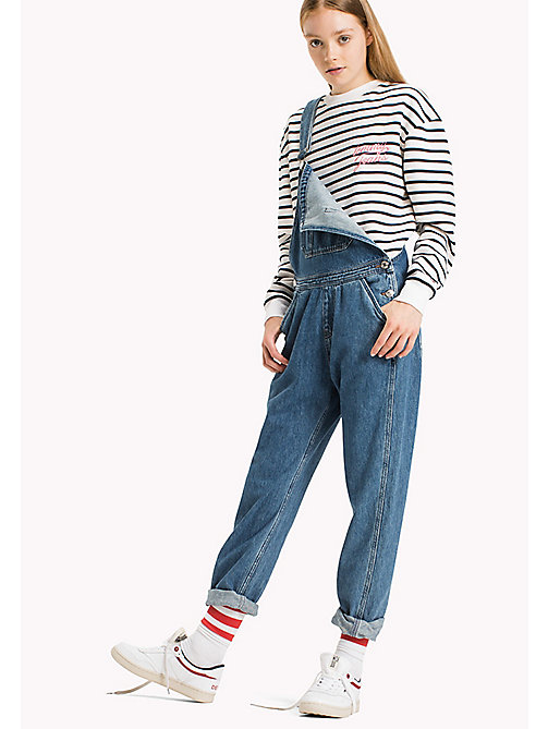 TOMMY JEANS Straight Fit Dungaree - WORKWEAR MID BLUE RIGID - TOMMY JEANS Jeans - main image
