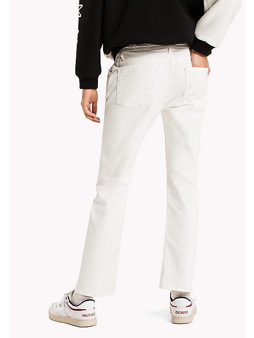 TOMMY JEANS Straight Fit Jeans - PURE WHITE DESTROYED COMFORT - TOMMY JEANS Clothing - detail image 1