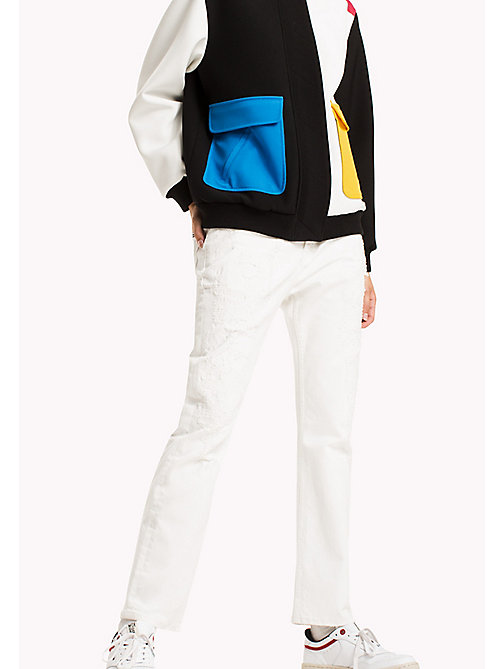 TOMMY JEANS Straight Fit Jeans - PURE WHITE DESTROYED COMFORT - TOMMY JEANS WOMEN - main image