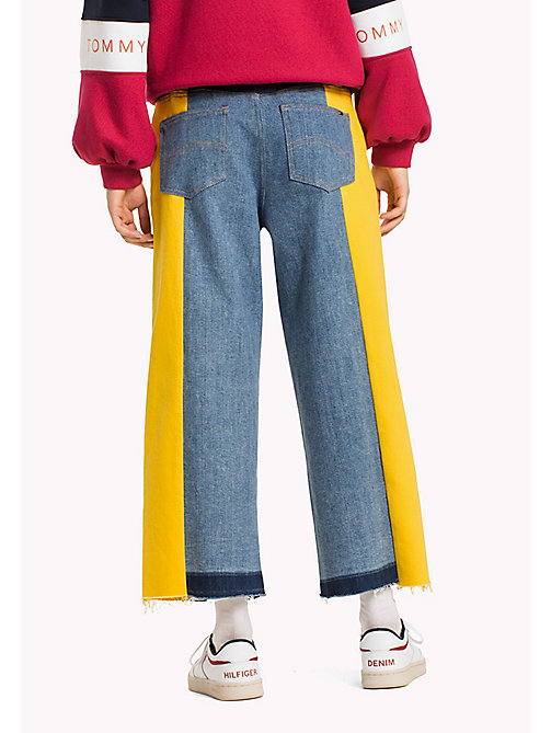 TOMMY JEANS Denim Flared Culottes - LEMON COLOR BLOCK COMFORT - TOMMY JEANS Jeans - detail image 1