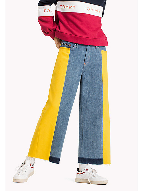 TOMMY JEANS Denim Flared Culottes - LEMON COLOR BLOCK COMFORT - TOMMY JEANS Jeans - main image