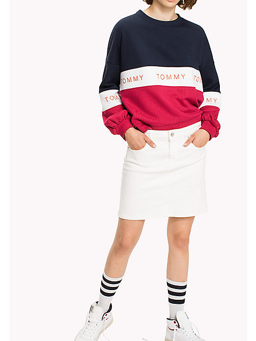 TOMMY JEANS Denim Fitted Skirt - VALENCIA WHITE COMFORT - TOMMY JEANS Skirts - main image
