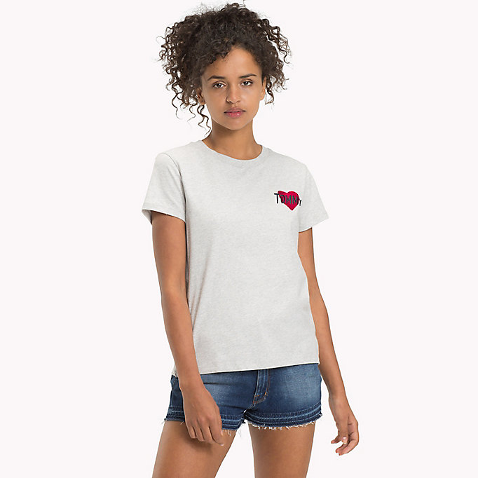 TOMMY JEANS Cotton Badge T-Shirt - BLACK IRIS - TOMMY JEANS Women - main image
