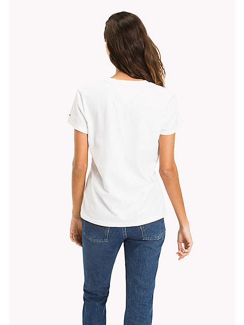 TOMMY JEANS Cotton Badge T-Shirt - BRIGHT WHITE - TOMMY JEANS MUJERES - imagen detallada 1
