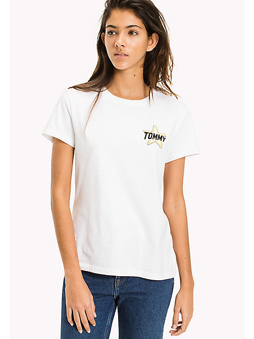 TOMMY JEANS Cotton Badge T-Shirt - BRIGHT WHITE - TOMMY JEANS MUJERES - imagen principal
