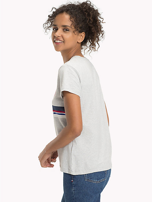 TOMMY JEANS Cotton Jersey Logo T-Shirt - LIGHT GREY HTR - TOMMY JEANS WOMEN - detail image 1