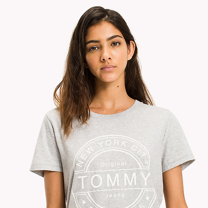 TOMMY JEANS Pure Cotton Logo T-Shirt - GOLD EARTH - TOMMY JEANS Clothing - detail image 2