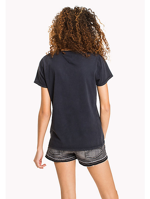 TOMMY JEANS Pure Cotton Logo T-Shirt - BLACK IRIS - TOMMY JEANS WOMEN - detail image 1