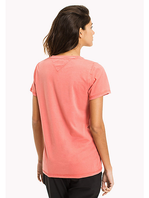 TOMMY JEANS Pure Cotton Logo T-Shirt - SPICED CORAL - TOMMY JEANS WOMEN - detail image 1