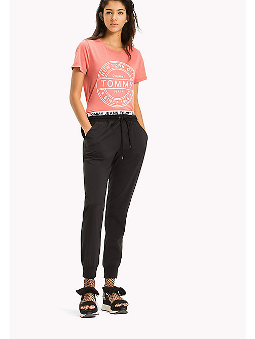 TOMMY JEANS Pure Cotton Logo T-Shirt - SPICED CORAL - TOMMY JEANS WOMEN - main image