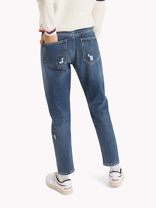 TOMMY JEANS Slim Fit Jeans - COVE MID BLUE RIGID DESTRUDTED - TOMMY JEANS Jeans - detail image 1