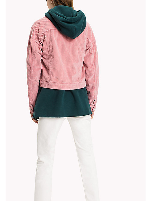 TOMMY JEANS Corduroy Oversized Trucker - BLUSH - TOMMY JEANS Coats & Jackets - detail image 1