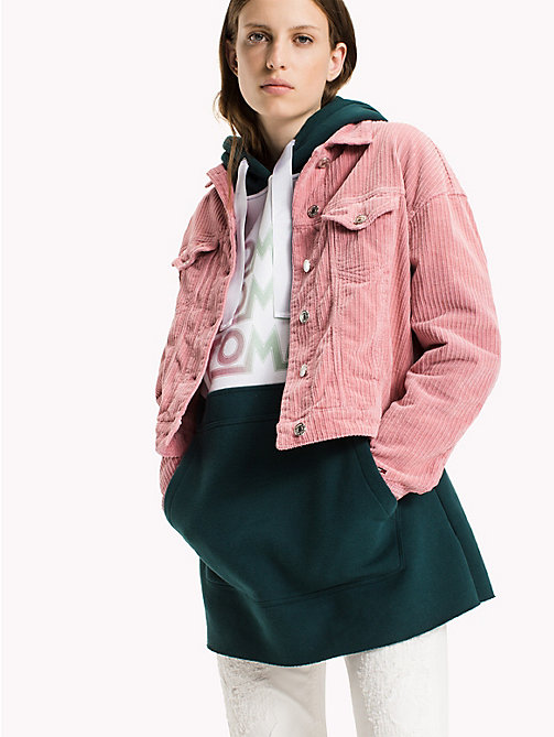 TOMMY JEANS Corduroy Oversized Trucker - BLUSH - TOMMY JEANS Coats & Jackets - main image