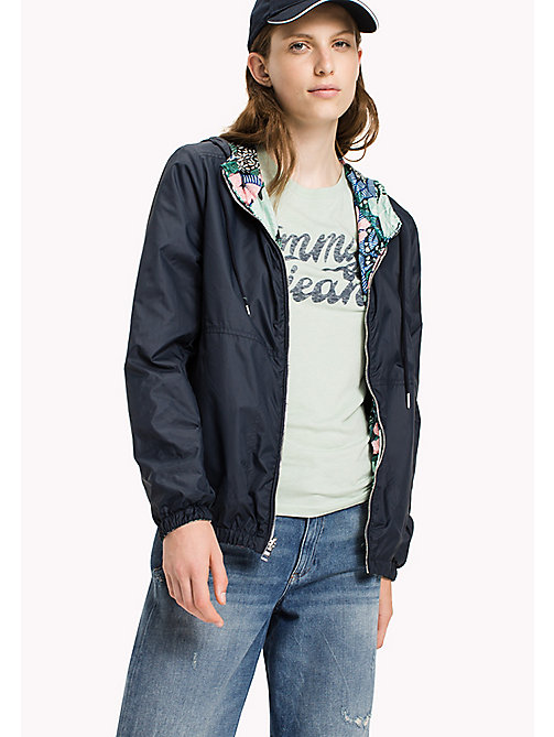 TOMMY JEANS Polyester Reversible Windbreaker - BOTANICAL PRINT - TOMMY JEANS Coats & Jackets - main image