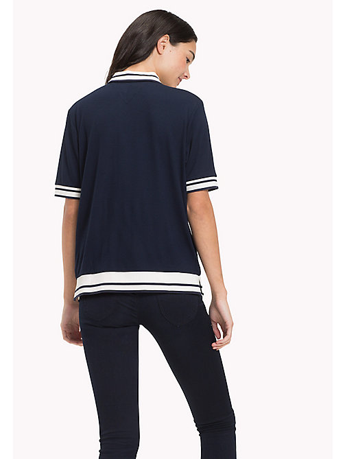 TOMMY JEANS Jersey Stretch Striped Polo - NAVY BLAZER - TOMMY JEANS WOMEN - detail image 1