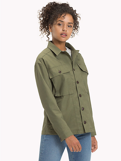 TOMMY JEANS Cotton Stretch Field Jacket - FOUR LEAF CLOVER - TOMMY JEANS Coats & Jackets - main image