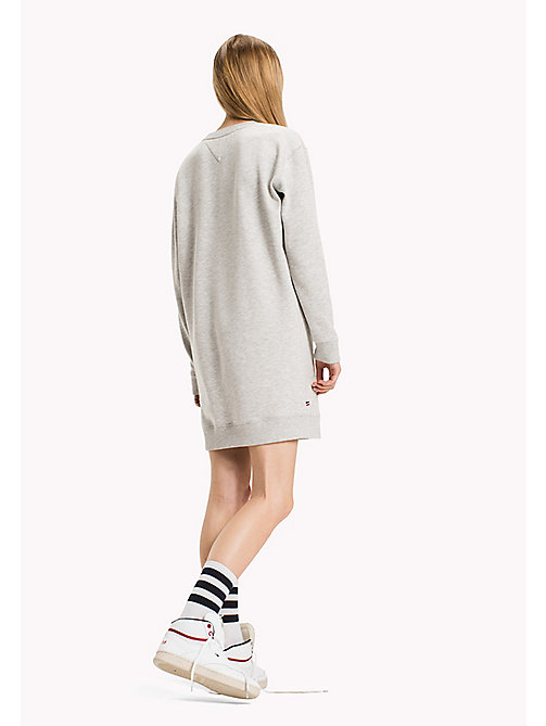 TOMMY JEANS Fleece Boyfriend Fit Dress - LT GREY HTR - TOMMY JEANS Dresses & Jumpsuits - detail image 1
