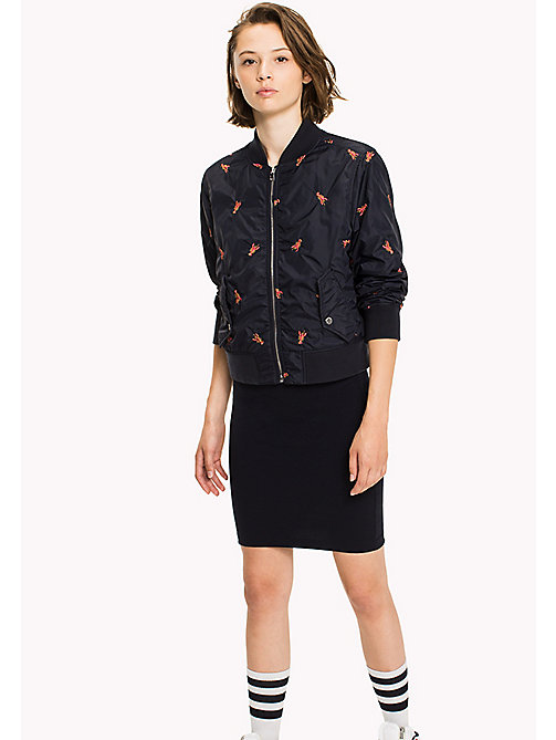 TOMMY JEANS Jersey Fitted Skirt - NAVY BLAZER - TOMMY JEANS Skirts - main image