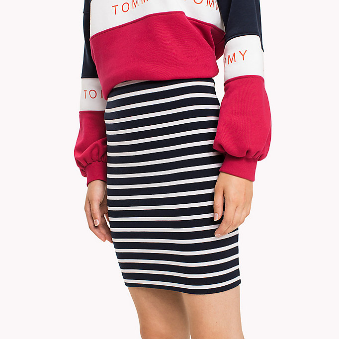 TOMMY JEANS Jersey Fitted Skirt - NAVY BLAZER - TOMMY JEANS Clothing - detail image 2