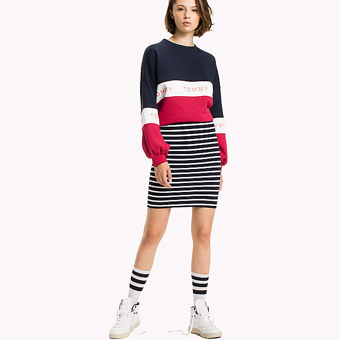 TOMMY JEANS Jersey Fitted Skirt - NAVY BLAZER - TOMMY JEANS Clothing - main image