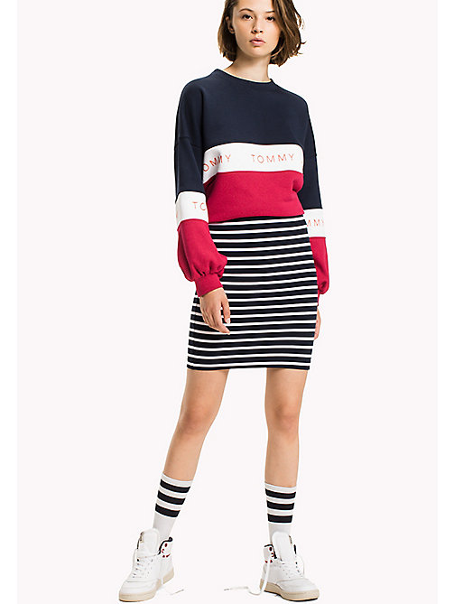 TOMMY JEANS Jersey Fitted Skirt - NAVY BLAZER / BRIGHT WHITE - TOMMY JEANS Skirts - main image
