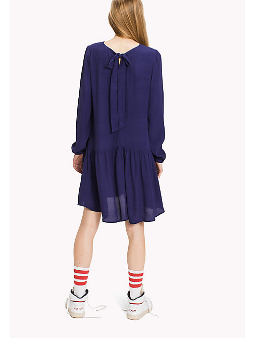TOMMY JEANS Viscose Bow Dress - BLUE RIBBON - TOMMY JEANS Dresses & Jumpsuits - detail image 1