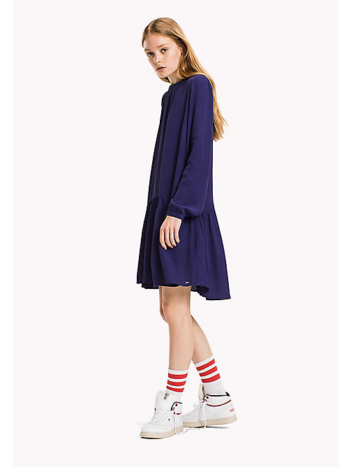 TOMMY JEANS Viscose Bow Dress - BLUE RIBBON - TOMMY JEANS Dresses & Jumpsuits - main image