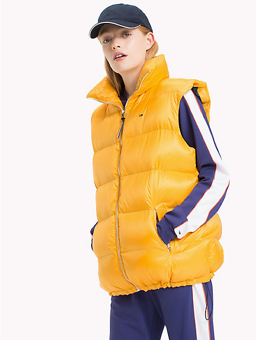 TOMMY JEANS Down-Filled Polyester Oversized Vest - ARTISANS GOLD - TOMMY JEANS Coats & Jackets - main image