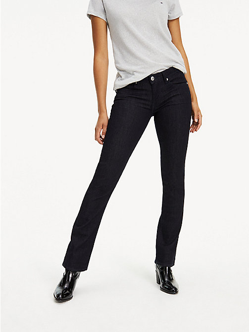 TOMMY JEANS Mid Rise Straight Leg Jeans - NEW RINSE STRETCH - TOMMY JEANS Basics - main image