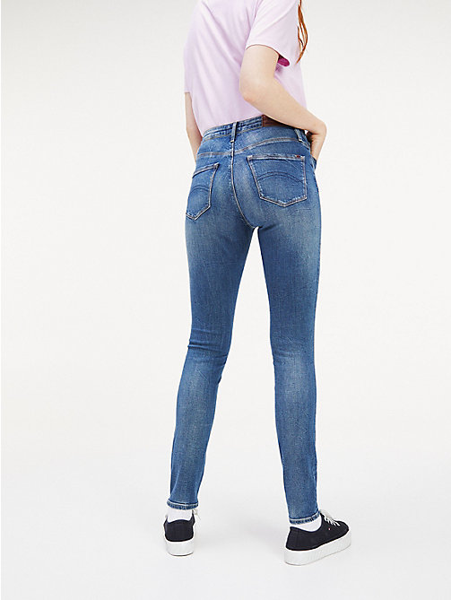 TOMMY JEANS Faded High Rise Skinny Fit Jeans - ROYAL BLUE STRETCH - TOMMY JEANS Jeans - detail image 1