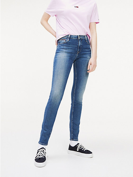 TOMMY JEANS Faded High Rise Skinny Fit Jeans - ROYAL BLUE STRETCH - TOMMY JEANS Jeans - main image