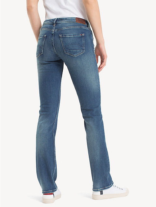 TOMMY JEANS Faded Mid Rise Straight Leg Jeans - ROYAL BLUE STRETCH - TOMMY JEANS Basics - detail image 1