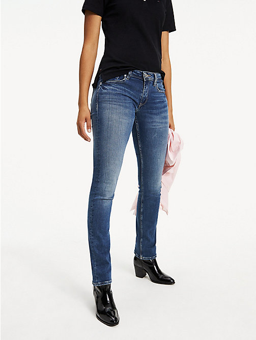 TOMMY JEANS Faded Mid Rise Straight Leg Jeans - ROYAL BLUE STRETCH - TOMMY JEANS TOMMY JEANS WOMEN - main image