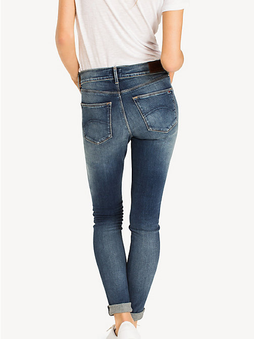 TOMMY JEANS Faded Mid Rise Skinny Fit Jeans - ROYAL BLUE STRETCH - TOMMY JEANS Jeans - detail image 1
