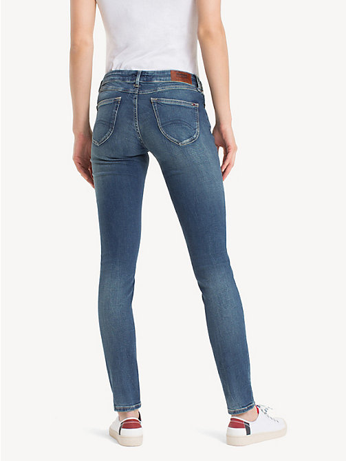 TOMMY JEANS Faded Low Rise Skinny Fit Jeans - ROYAL BLUE STRETCH - TOMMY JEANS Skinny Jeans - detail image 1