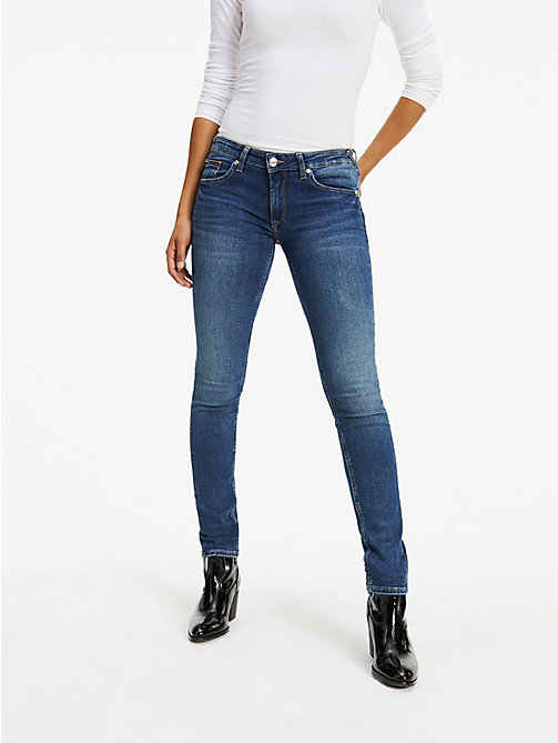 TOMMY JEANS Faded Low Rise Skinny Fit Jeans - ROYAL BLUE STRETCH - TOMMY JEANS Basics - main image