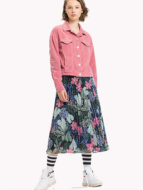 TOMMY JEANS Chiffon A-Line Skirt - BOTANICAL PRINT - TOMMY JEANS Skirts - main image