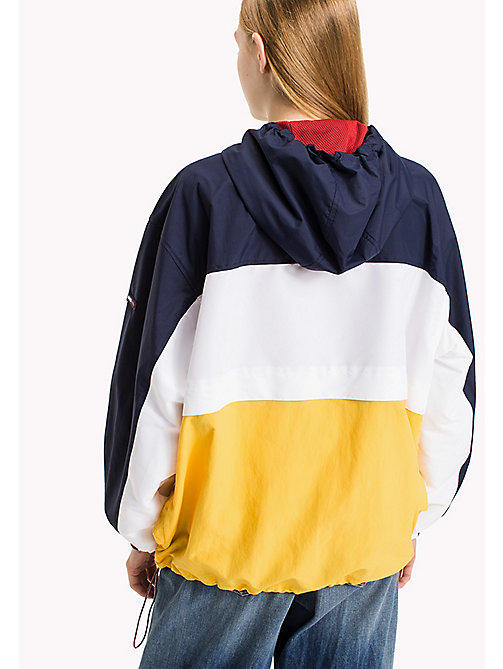 TOMMY JEANS Lightweight Polyester Colour Block Jacket - BRIGHT WHITE -  Coats & Jackets - detail image 1