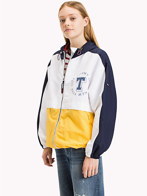 TOMMY JEANS Lichtgewicht polyester colourblock jack - BRIGHT WHITE - TOMMY JEANS Jassen & Jacks - main image
