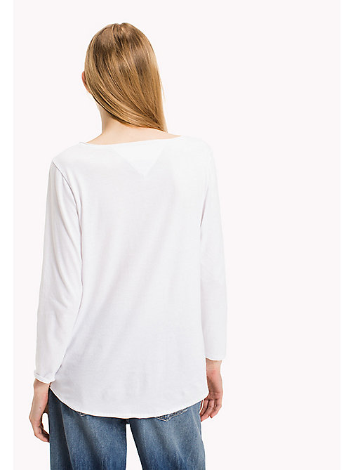 TOMMY JEANS T-Shirt aus Bio-Baumwolle - BRIGHT WHITE - TOMMY JEANS Sustainable Evolution - main image 1