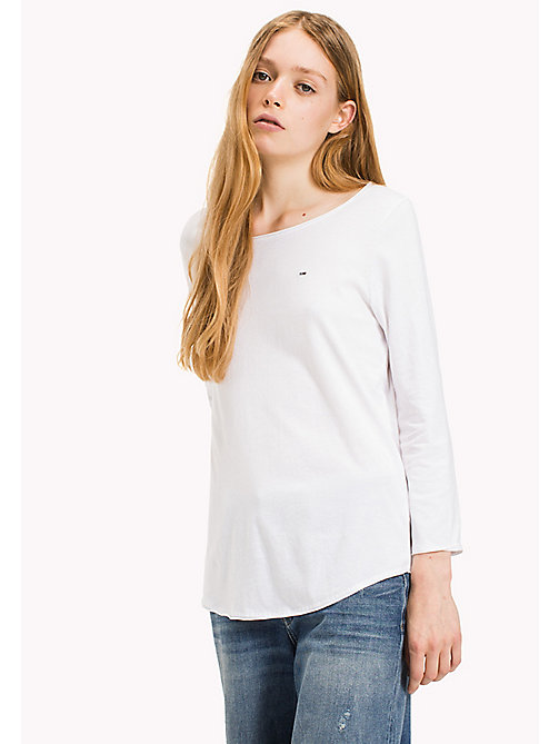 TOMMY JEANS Organic Cotton T-Shirt - BRIGHT WHITE - TOMMY JEANS Sustainable Evolution - main image