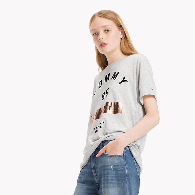 TOMMY JEANS T-shirt con logo in jersey - BLUSH - TOMMY JEANS Donne - immagine principale