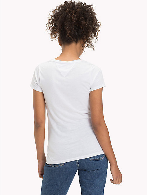 TOMMY JEANS Getailleerd T-shirt met logo - BRIGHT WHITE - TOMMY JEANS DAMES - detail image 1