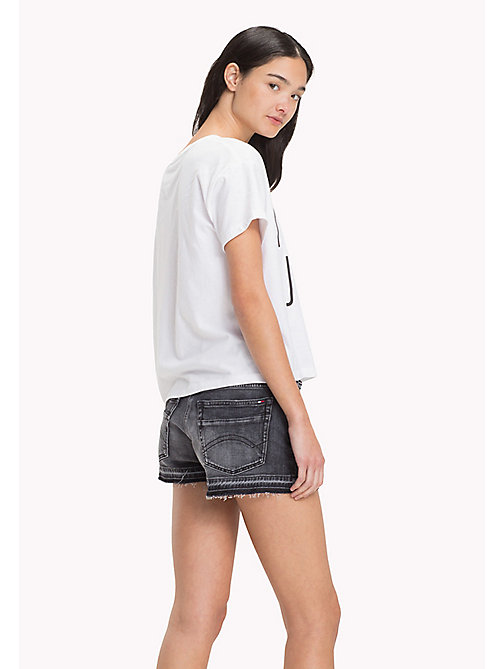 TOMMY JEANS Cropped T-shirt van jersey - BRIGHT WHITE - TOMMY JEANS DAMES - detail image 1