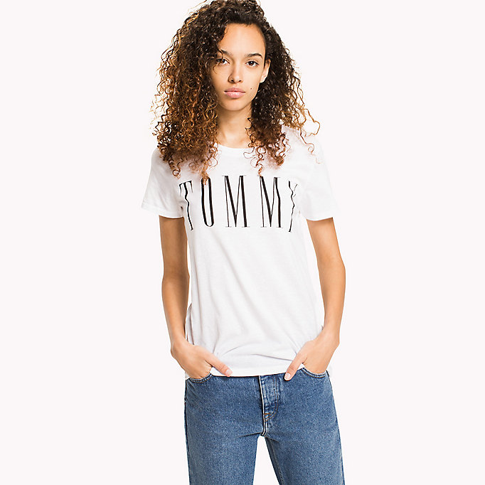 TOMMY JEANS T-shirt con logo - TOMMY BLACK - TOMMY JEANS Donne - immagine principale