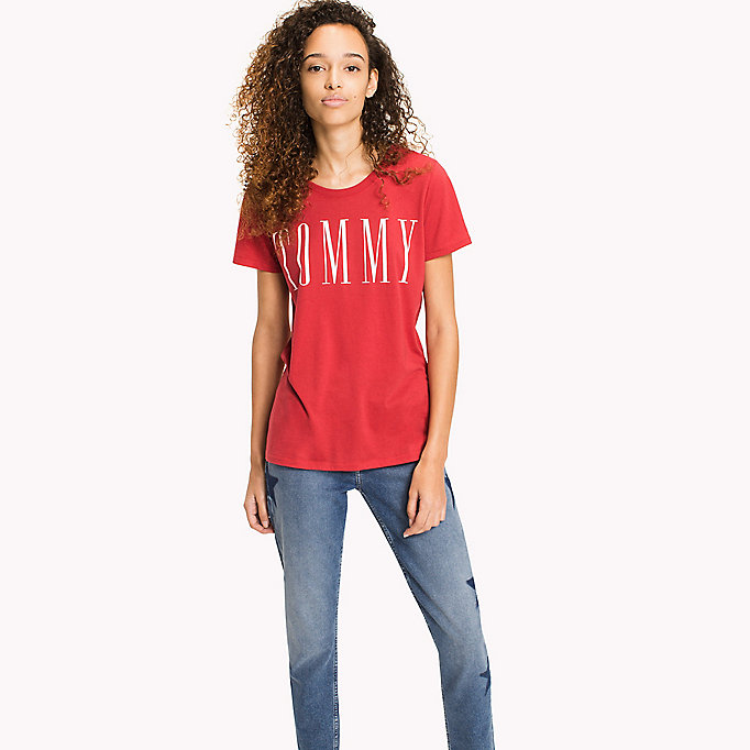 TOMMY JEANS Logo T-Shirt - NAUTICAL BLUE - TOMMY JEANS Women - main image