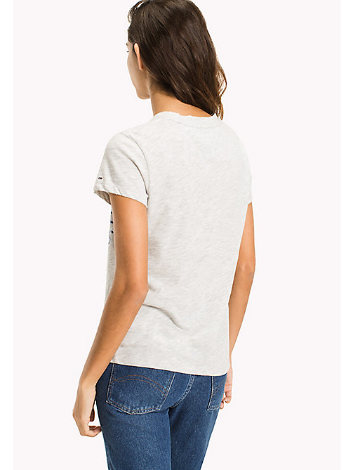 TOMMY JEANS Cotton Slub Logo T-Shirt - LIGHT GREY HTR - TOMMY JEANS WOMEN - detail image 1