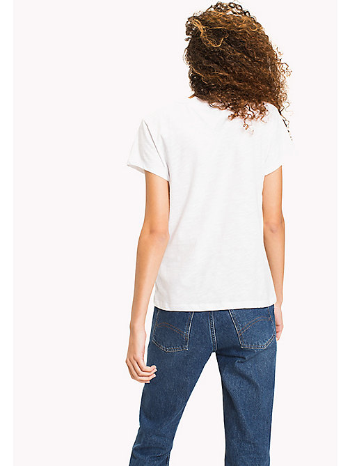 TOMMY JEANS Cotton Slub Logo T-Shirt - BRIGHT WHITE -  WOMEN - detail image 1