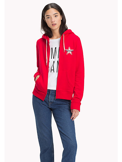 TOMMY JEANS Logo Zipped Hoodie - SKI PATROL - TOMMY JEANS TOMMY JEANS WOMEN - main image