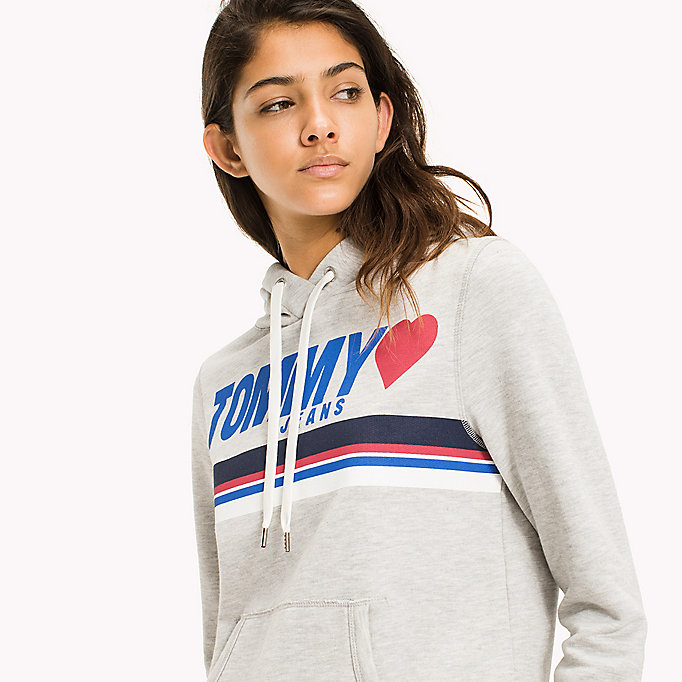 TOMMY JEANS Logo Hoodie - BRIGHT WHITE - TOMMY JEANS Clothing - detail image 2